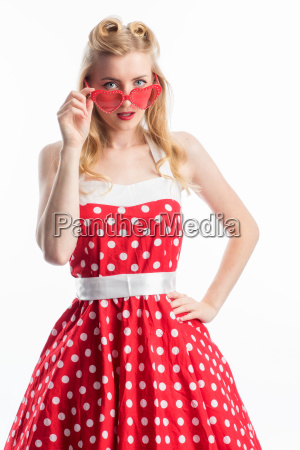 pinup girl with glasses