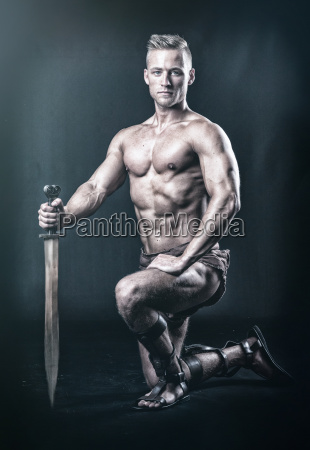 a warrior with sword