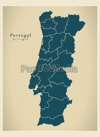 moderna mappa distretti portogallo pt