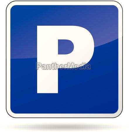 segno di parcheggio di vettore