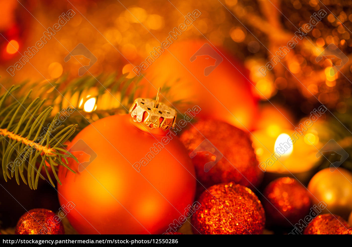 decorazioni, natalizie, calde, dorate, e, arancioni - 12550286