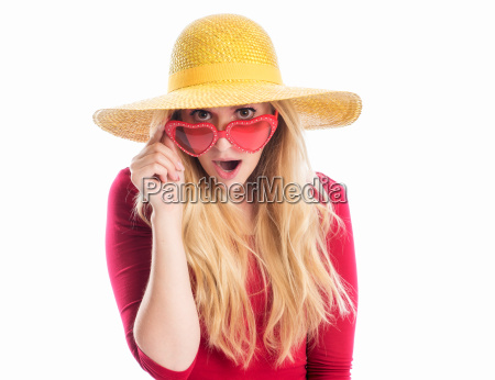 woman with summer and sunglasses
