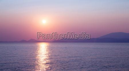 tramonto grecia riflesso immagine riflessa riflessione