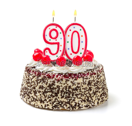torta di compleanno con candela accesa