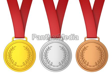 medaglia con il nastro rosso