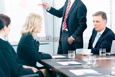 business meeting con il lavoro sul