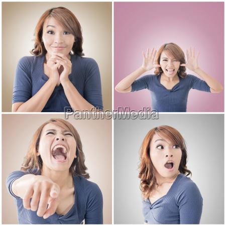 faccia asiatica della donna