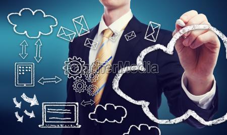 connettivita attraverso concetto di cloud computing