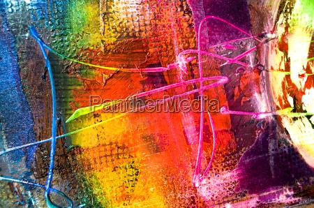 struttura astratta della pittura