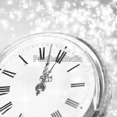 nuovo orologio data mezzanotte vigilia anni