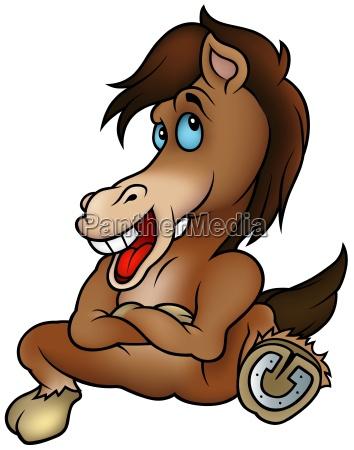 risata sorrisi fumetto cavallo animale mammifero
