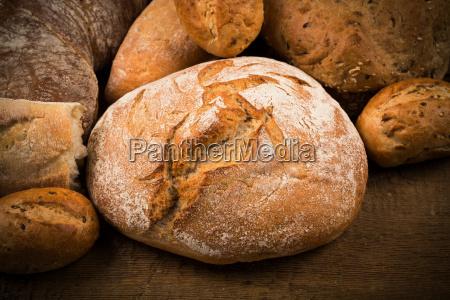 close up di pane tradizionale