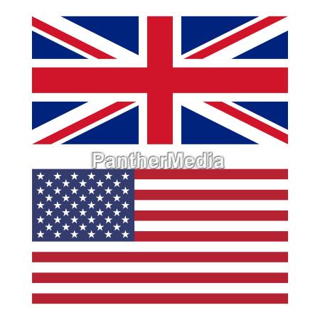 bandiera del regno unito e stati