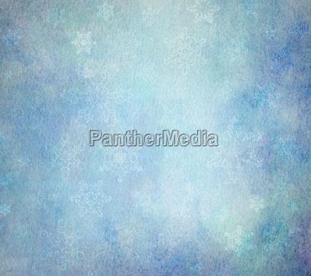 watercolor light blue snowflakes