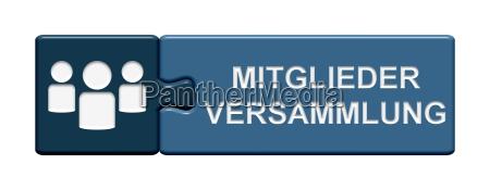 pulsante di puzzle blu assemblea generale