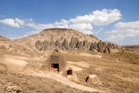 turchia erosione montagna paesaggio natura cappadocia