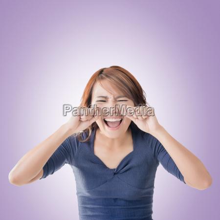 faccia donna asiatica