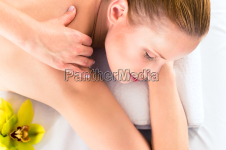 woman at massage in a spa