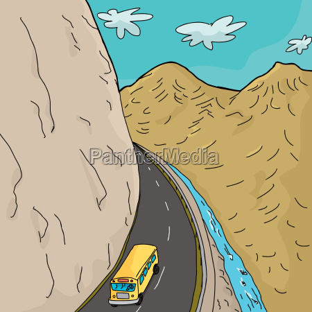 scuolabus in montagna