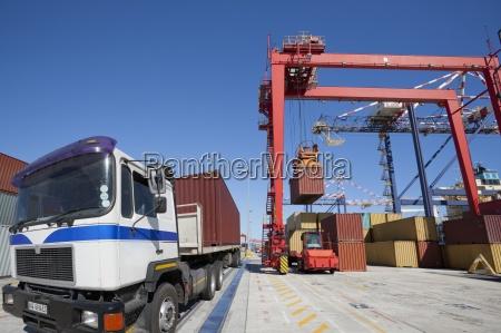 gru di sollevamento container da carico