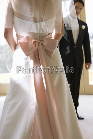 la sposa indossa un abito da