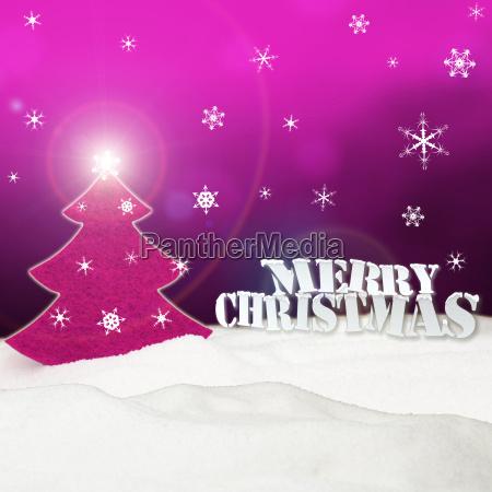 christmas background christmas tree pink