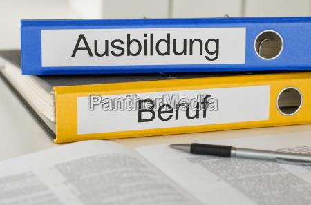cartella di file etichettatura istruzione e