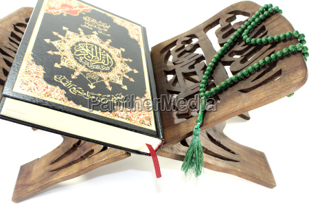 koran stand with the koran and