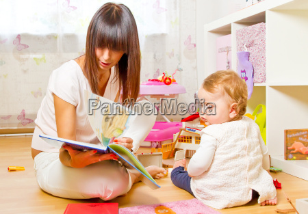 madre e il bambino con picture