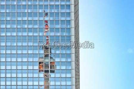riflesso germania torre della televisione immagine