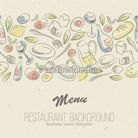 menu ristorante design elegante vettore