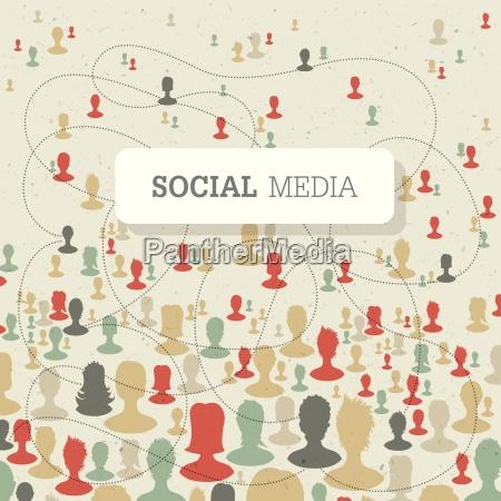 concetto sociale su struttura di carta