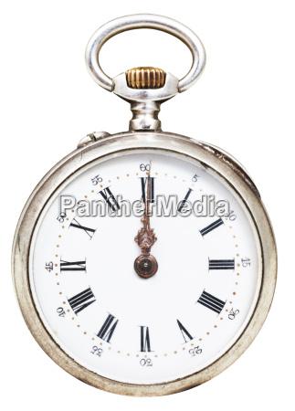 twelve oclock on the dial of