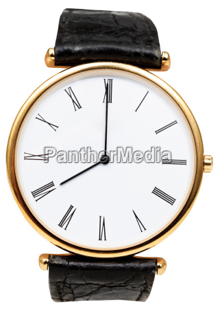 eight oclock on dial of wristwatch