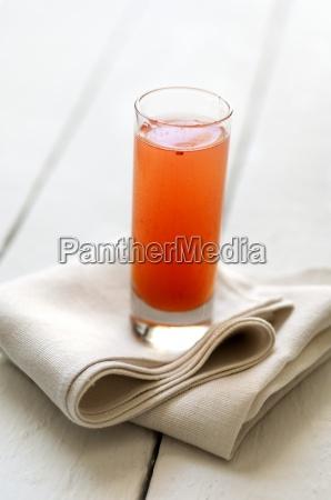 bicchiere interno bere succo bibita tovagliolo