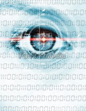 occhio binario digitale