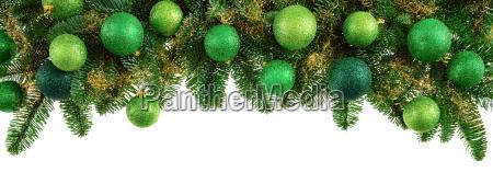 rami di pino isolati con sfere
