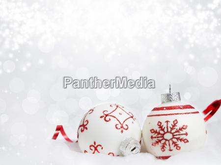 sfondo, di, natale, con, decorazioni, rosse - 13074662