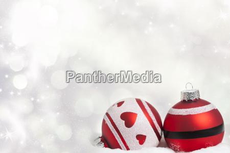 sfondo natalizio con decorazioni rosse