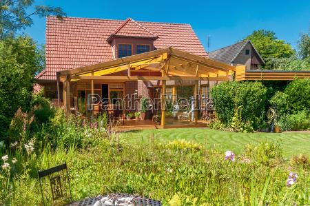 casa costruzione giardino moderno spazio di