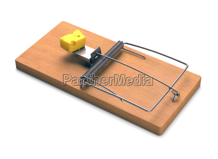 mousetrap over white