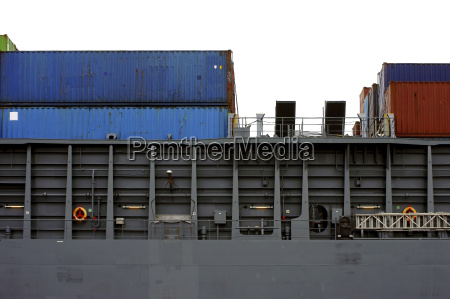 container vista laterale della nave
