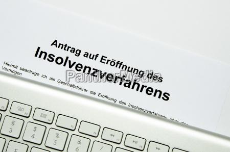 istanza di fallimento con tastiera esterna