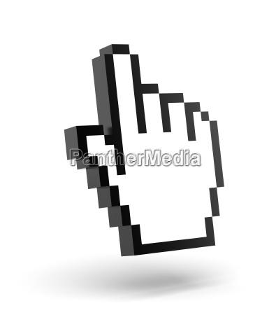 cliccare click cursore puntatore del mouse
