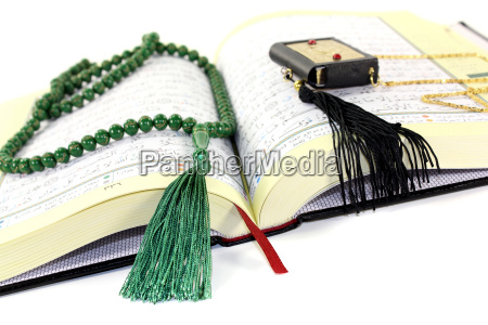 whipped koran with green rosary