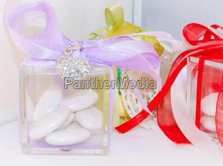 scatola per coriandoli di nozze