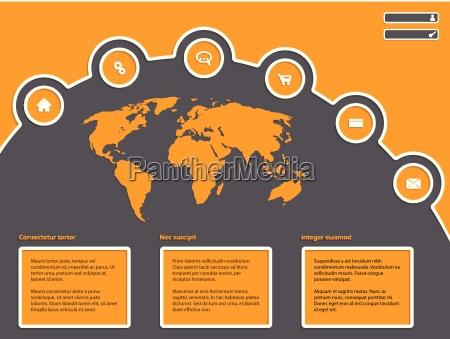 sito web design semplice con mappa