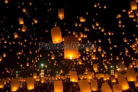 religione lanterne thailandia tradizionale lanterna festival