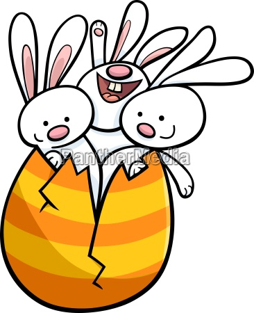 coniglietti di pasqua in cartone animato