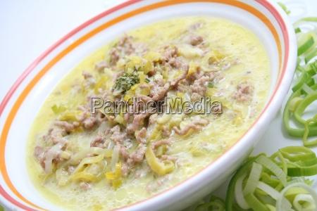 formaggio zuppa di porri